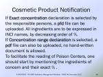 cosmetic product notification42