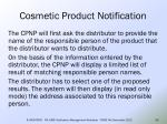 cosmetic product notification48