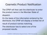 cosmetic product notification49