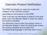 cosmetic product notification50