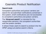 cosmetic product notification52