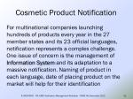 cosmetic product notification55