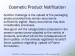 cosmetic product notification56