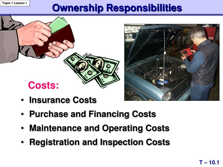 Ownership responsibilities