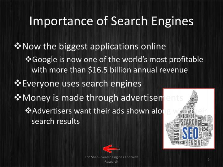 Importance of Search Engines