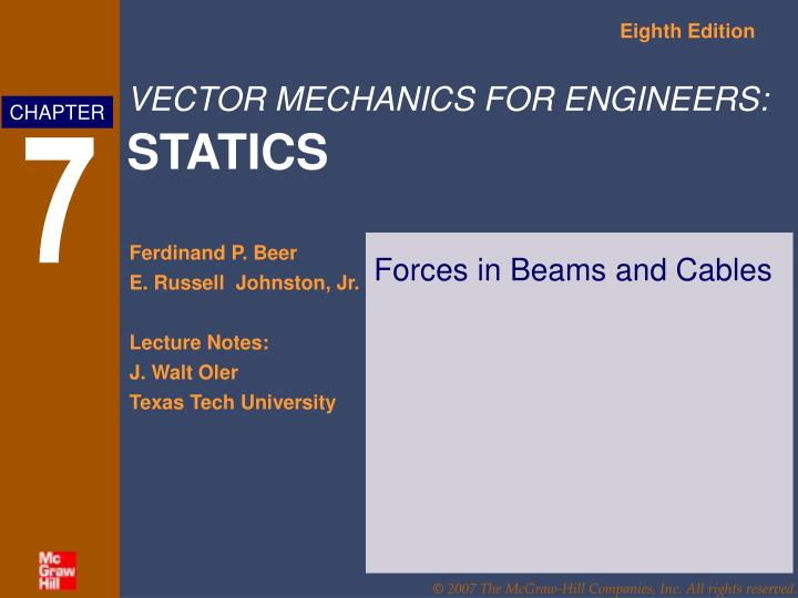forces in beams and cables n.