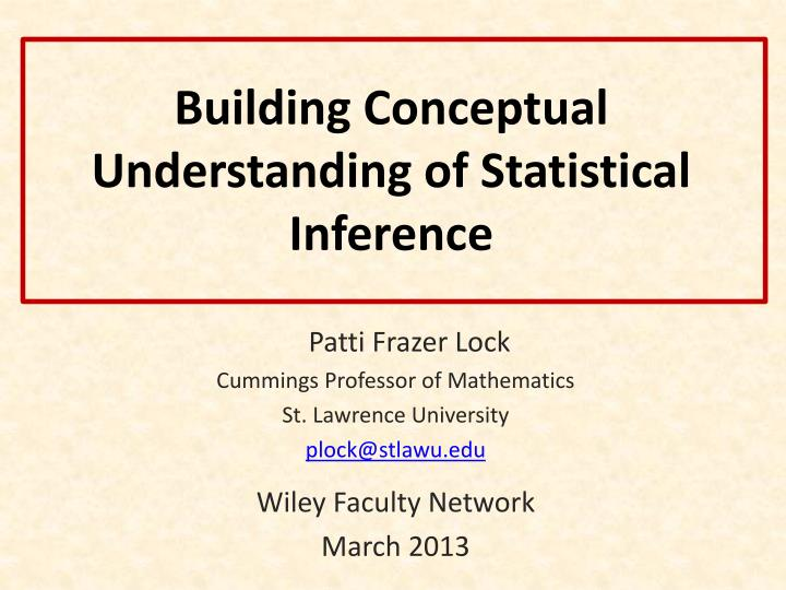 building conceptual understanding of statistical inference n.