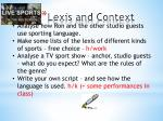lexis and context