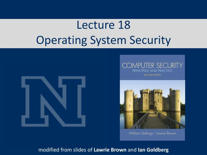 lecture 18 operating system security n.