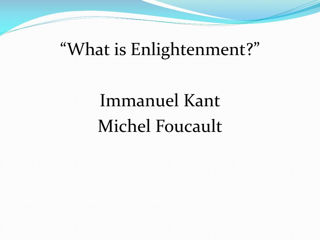 what does kant mean by enlightenment