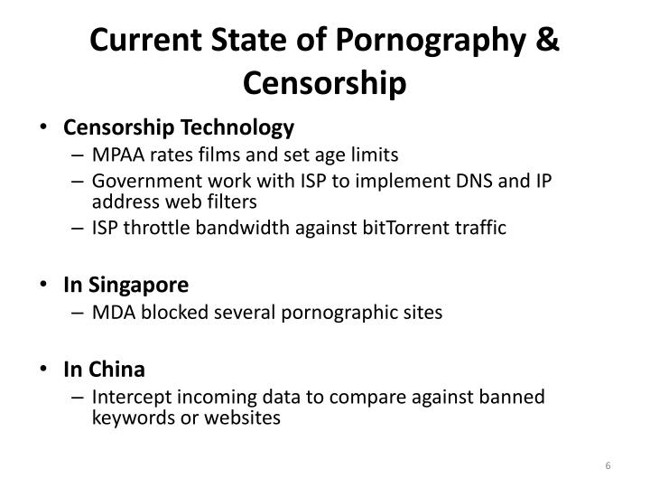 against the censorship of pornography Censorship versus free speech is the oldest debate in the world it is also one of the most important as ben whi-taker - a former chairman of the defence of literature and.