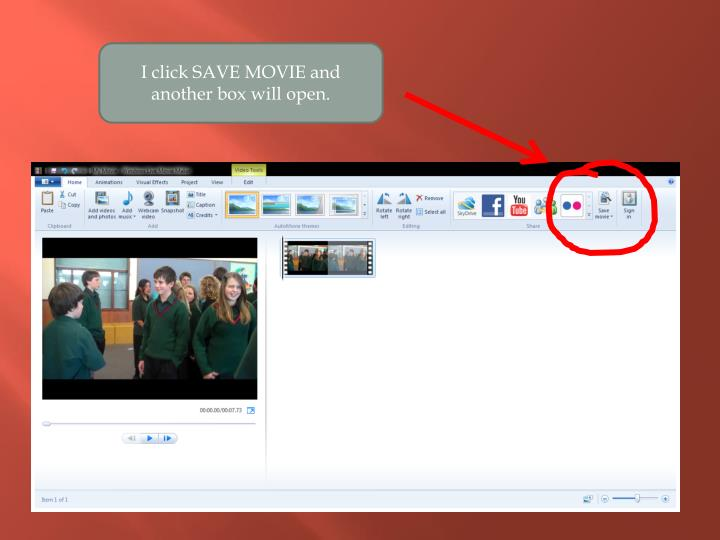 I click SAVE MOVIE and another box will open.
