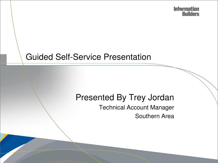 guided self service presentation