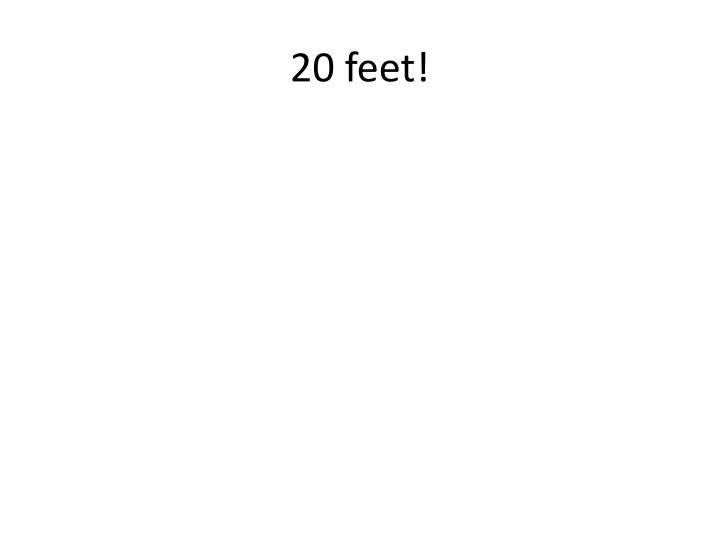 20 feet!