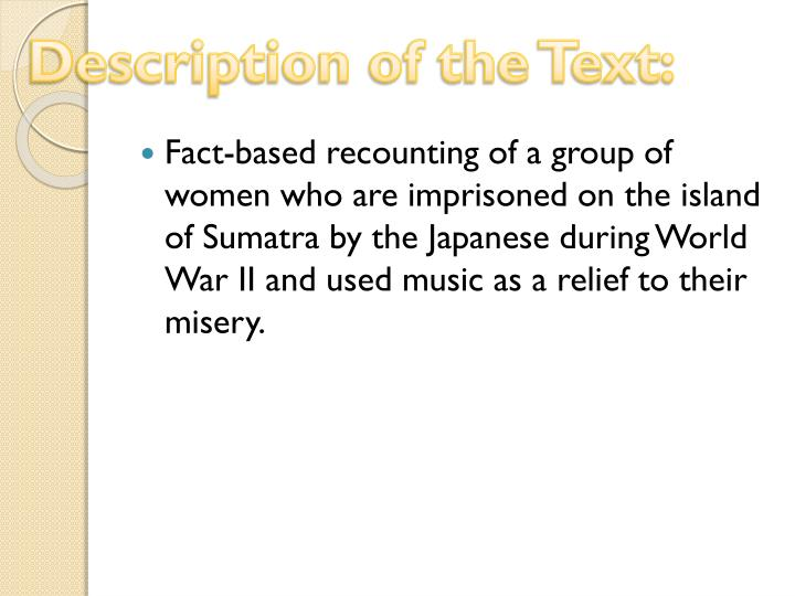Description of the Text: