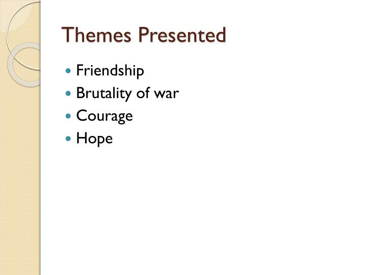 Themes presented