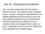 box 10 dependent care benefits