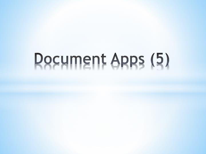 Document Apps (5)