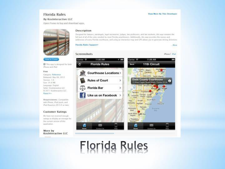 Florida Rules