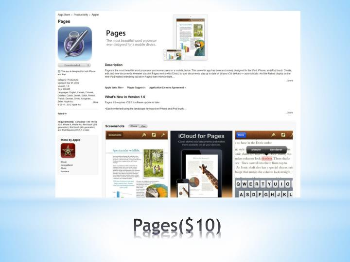 Pages($10)