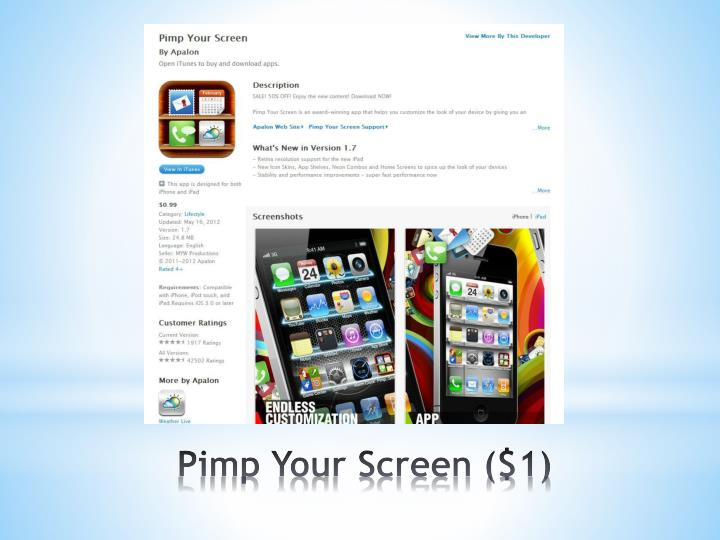 Pimp Your Screen ($1)