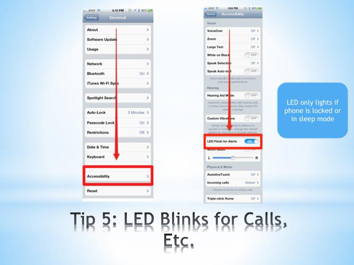 LED only lights if phone is locked or in sleep mode