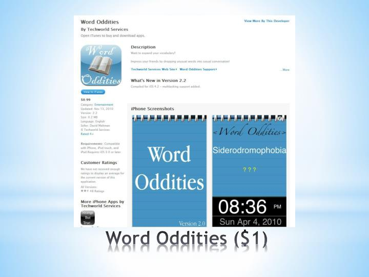 Word Oddities ($1)