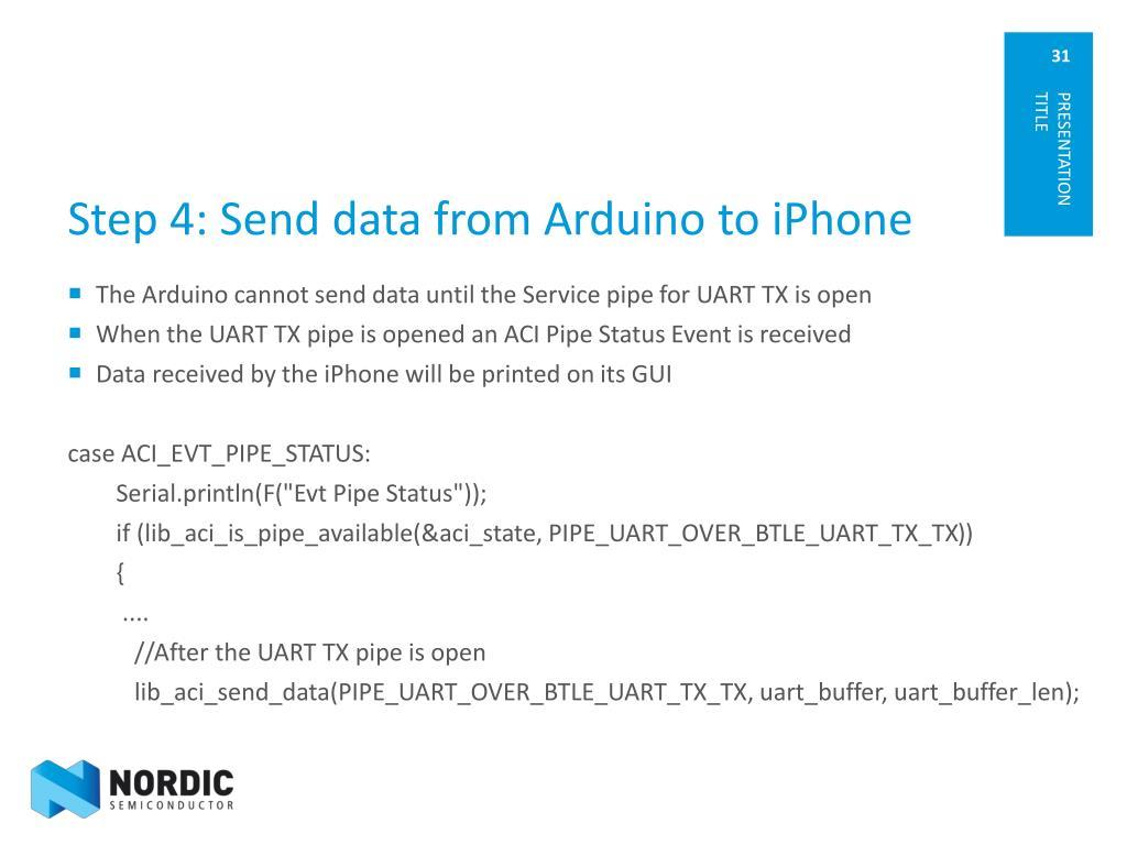 PPT - nRF8001 with Arduino PowerPoint Presentation - ID:1697823