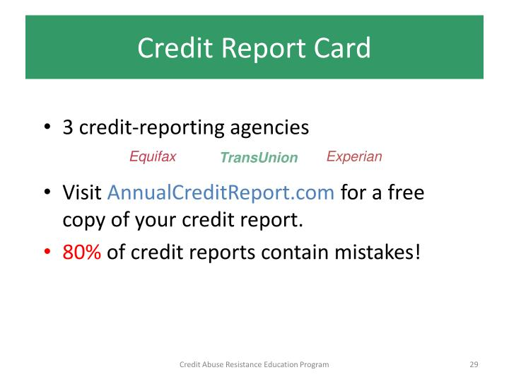 how to get a free copy of your credit report