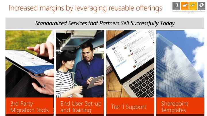 Increased margins by leveraging reusable offerings