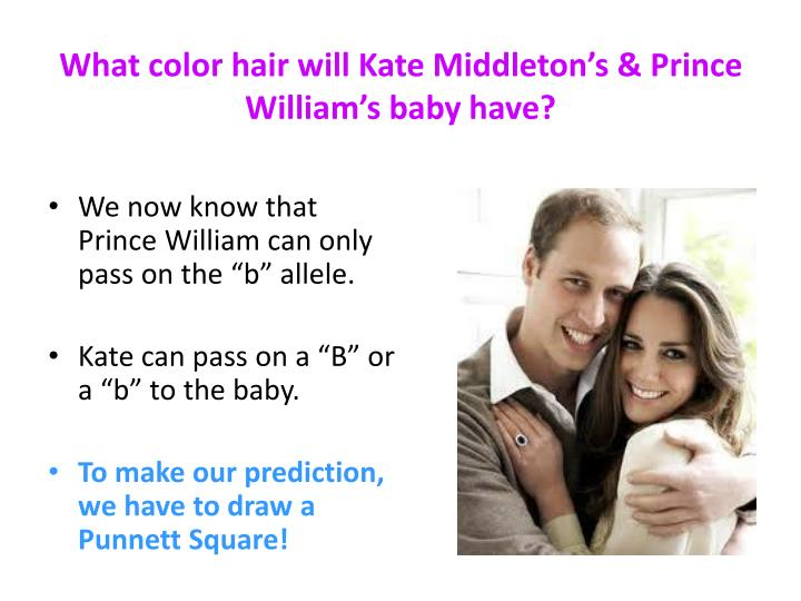 What color hair will Kate Middleton's & Prince William's baby have?