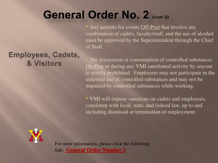 General Order No. 2