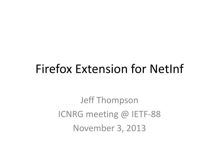 firefox extension for netinf n.