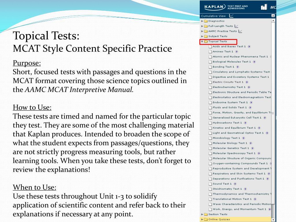 PPT - Kaplan MCAT PowerPoint Presentation - ID:1698026