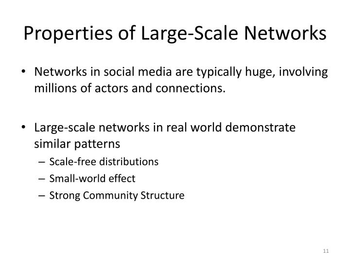 Properties of Large-Scale Networks