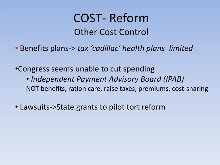 COST- Reform