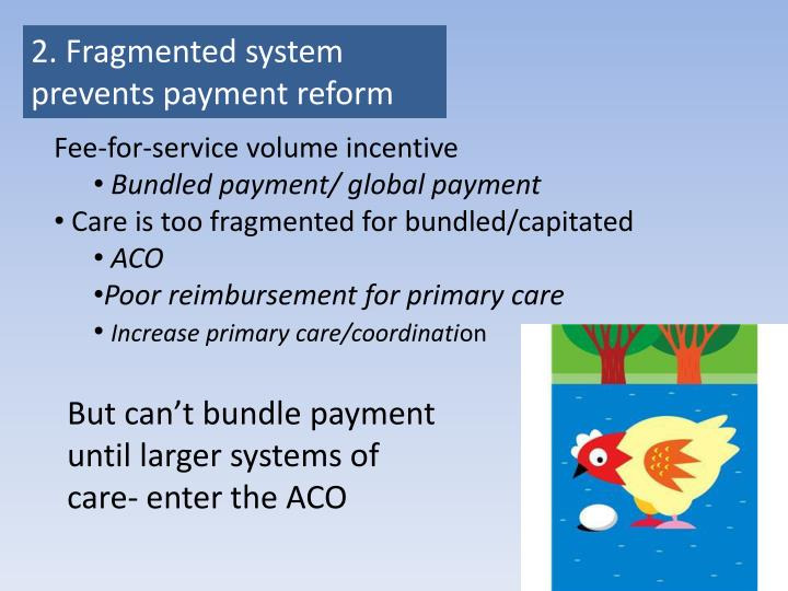 2. Fragmented system prevents payment reform