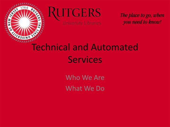 technical and automated services n.