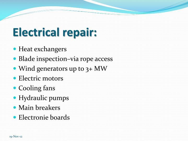 Electrical repair: