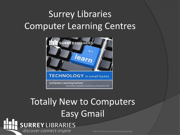 surrey libraries computer learning centres n.