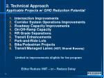 2 technical approach applicable projects w ghg reduction potential