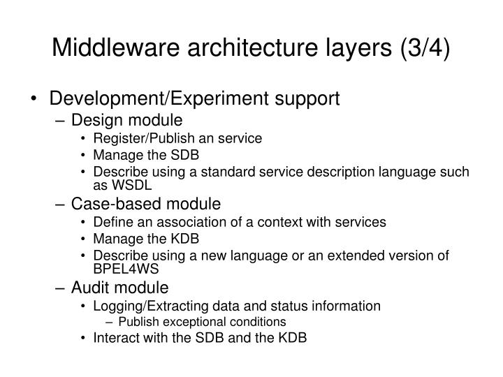 Middleware architecture layers (3/4)