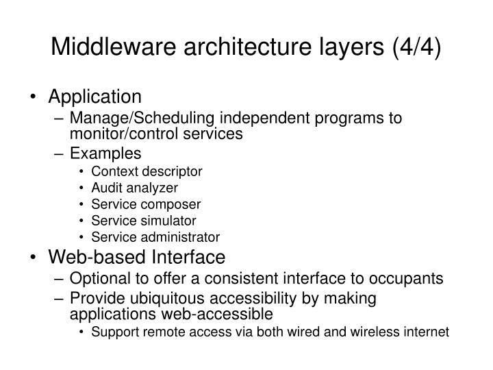 Middleware architecture layers (4/4)
