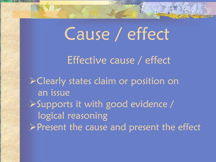 writing prompts for cause and effect essays Cause and effect essays can be organized as follows: state a cause in the introduction with body paragraphs that discuss the effects for a paragraph, state the cause in the topic sentence and write about its effects.