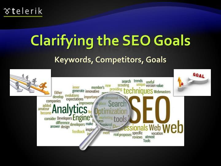 Clarifying the SEO Goals
