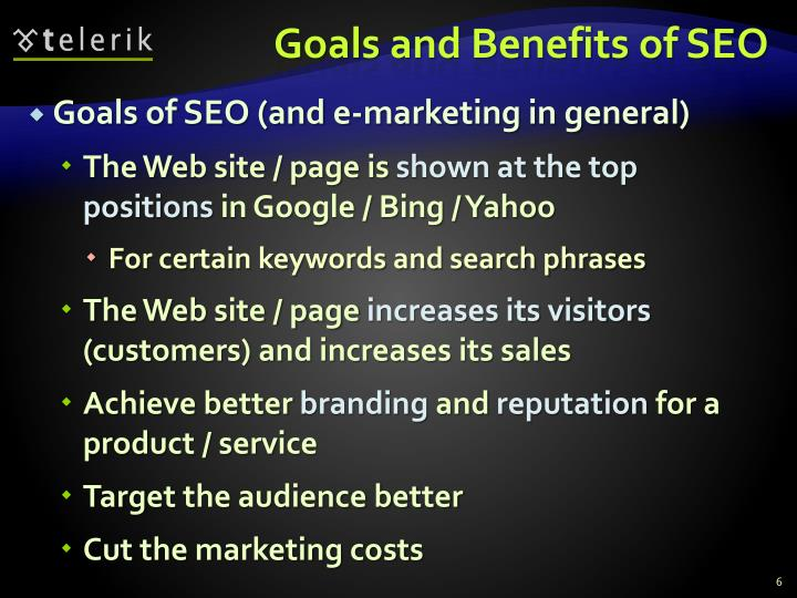 Goals and Benefits of SEO