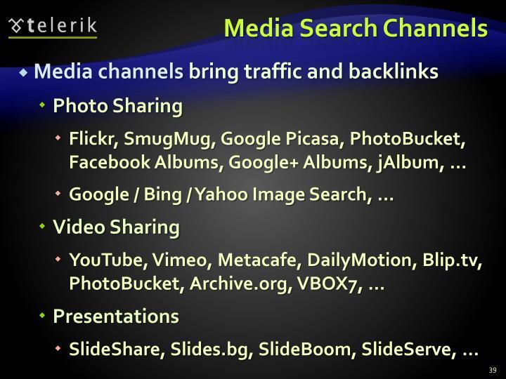 Media Search Channels