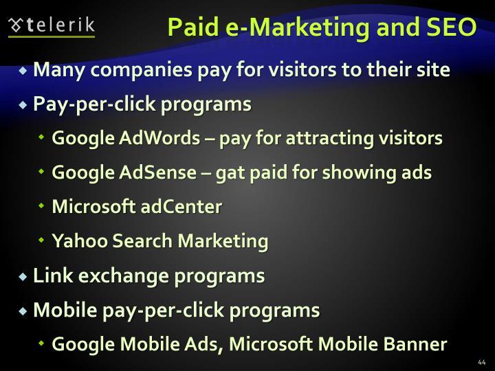 Paid e-Marketing and SEO