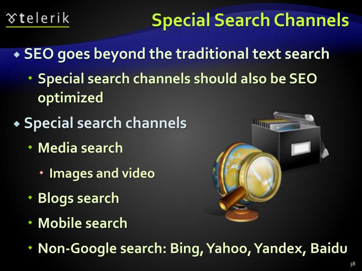 Special Search Channels