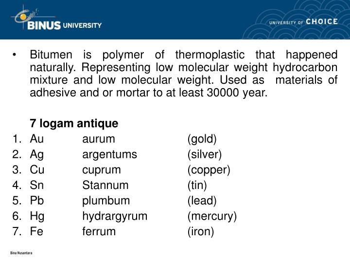 Bitumen is polymer of thermop